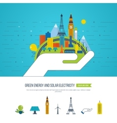 Green eco and eco-friendly city Smart city vector image