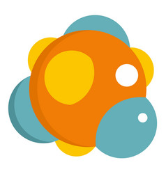 group of atoms forming molecule icon isolated vector image