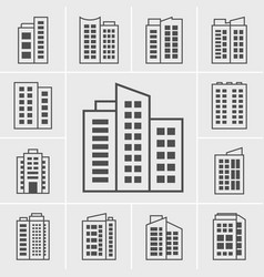 icons building vector image vector image