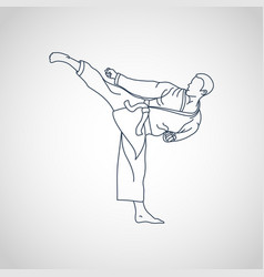 martial arts logo icon vector image
