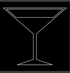 martini glass the white path icon vector image