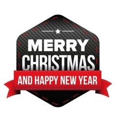 Merry christmas and happy new year patch vector