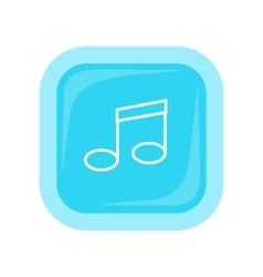 Musical Note Icon In Flat Style Design vector image