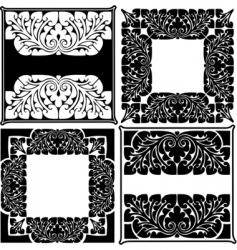 ornate quads vector image vector image
