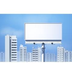 Outdoor Billboard Realistic vector image vector image