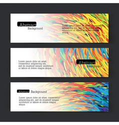 set of three colorful lines banners vector image vector image
