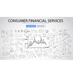 Sketch concept consumfinancialservices vector