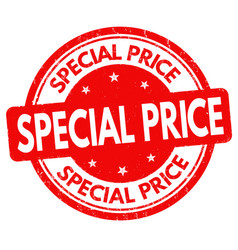 special price sign or stamp vector image