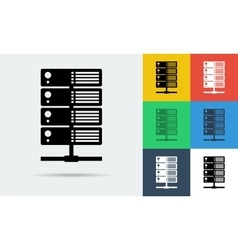 icon of internet server vector image