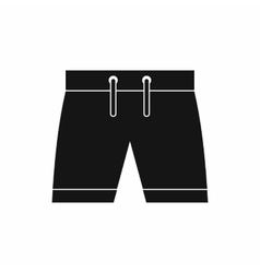 Mens shorts icon simple style vector