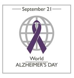 World alzheimers day vector