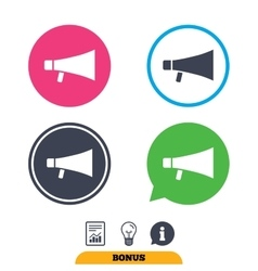 Megaphone sign icon loudspeaker symbol vector