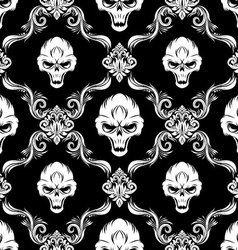 Skull decorative pattern vector