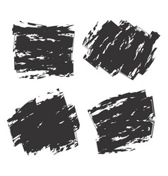 set of black vector image