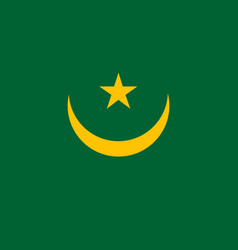 Colored flag of mauritania vector