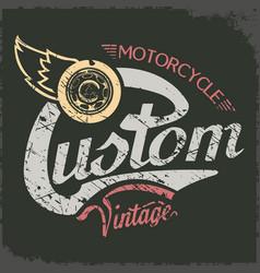 custom vintage vector image