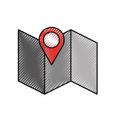 Gps map pointer cartoon vector