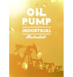Oil pump jack silhouette design vector image