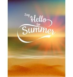 Summer defocused sunset background EPS 10 vector image