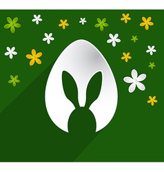 Easter egg bunny ears vector