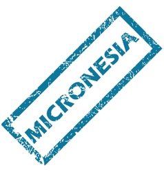 Micronesia rubber stamp vector