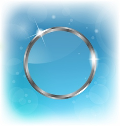 silver transparent speech bubble on abstract vector image