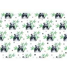 Cartoon panda pattern vector image