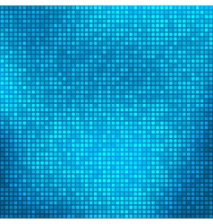 Blue abstract background with tiny squares vector