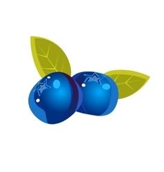 Bilberry flat sticker vector