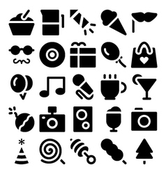 Celebration and party icons 2 vector