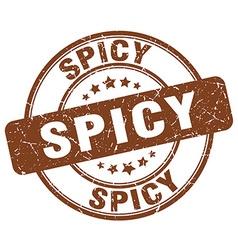 Spicy brown grunge round vintage rubber stamp vector