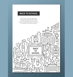 Back to school - line design brochure poster vector