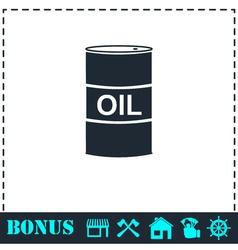 Barrel oil icon flat vector