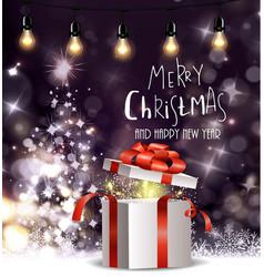 Christmas tree light background vector