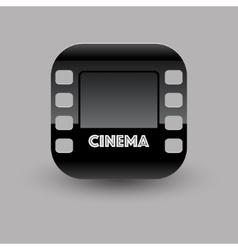 Cinema icon eps10 vector image