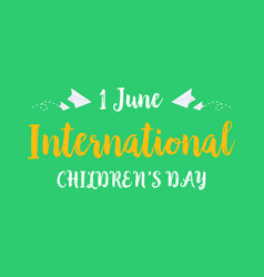 collection background childrens day style vector image vector image