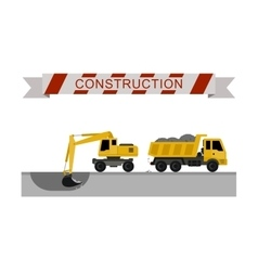Construction machines icons vector