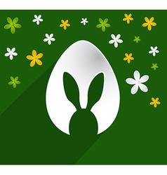 Easter egg bunny ears vector image