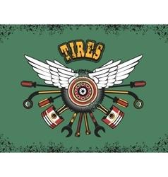 Emblem for tire vector