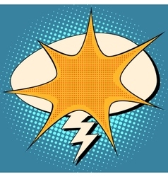 explosion and lightning comic bubble retro vector image vector image
