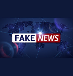 Fake news broadcasting television vector