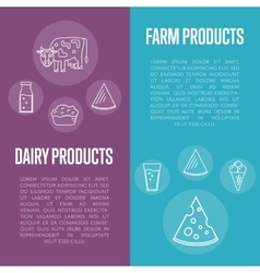 Farm products vertical flyers set vector image vector image