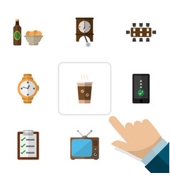 Flat icon life set of beer with chips boardroom vector