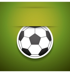Football sticker with place for text vector image