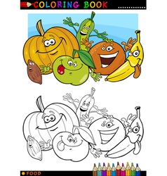 fruits and vegetables for coloring vector image vector image