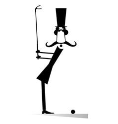 Gentleman golfer vector image vector image