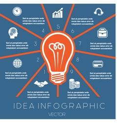 Idea business concept light bulb infographic 9 vector