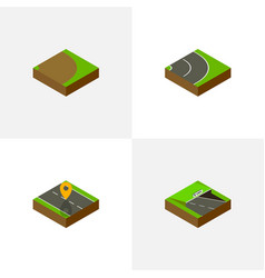 Isometric way set of rotation underground vector