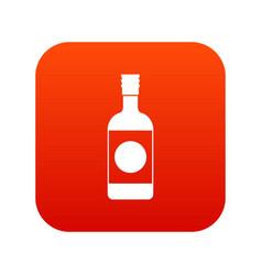 Japanese sake icon digital red vector