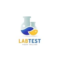 Laboratory equipment logo vector image